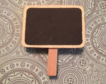 Stationery supplies; Cute Black Board Wooden Paper Clips, chalkboard