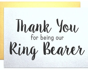 Thank you for being my ring bearer thank you card from bride to ring bearer wedding party wedding day card bridal party bride 1
