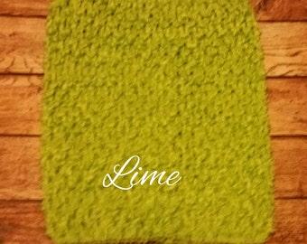 "Medium 7""x6"" Lime Green Crochet Tutu Tube Top - Tutu Top - Halter Top"