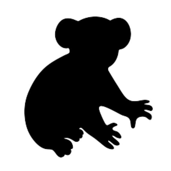 Koala Stencil Made From 4 Ply Mat Board