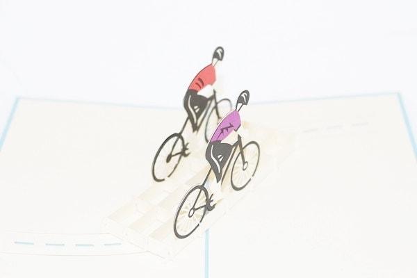 3D Bicyclists, Pop Up Birthday Card, Pop Up Card, Greet