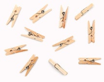 Mini Spring Clothespins - 50 pieces - 1 Inch Mini Clothespins - Scrapbook Clothespins - Embellishing Clothespins - Crafting Clothespins