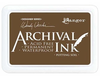 Ranger Archival Ink Potting Soil - Brown Ink - Brown Archive Ink - Ranger Brown Ink - Permanent Brown Ink - Waterproof Ink
