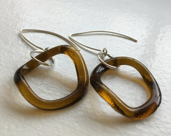 Recycled Aveda glass earrings