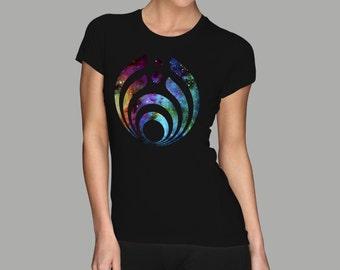 Bassnector womens shirt high quality digital print.