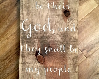 Special Walnut Pine Wood Bible Verse Sign