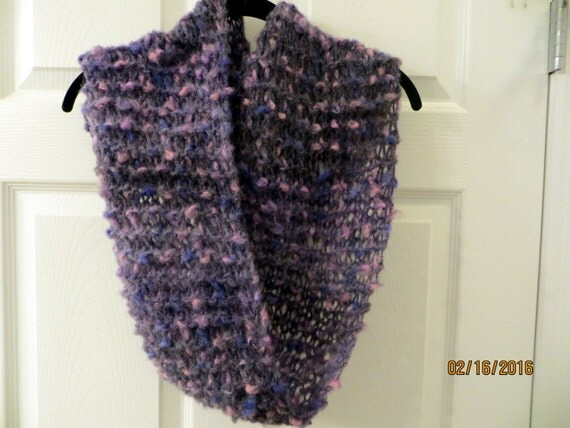 Infinity Scarf Knitting Pattern Mohair : Lavender Mohair Blend Infinity Scarf
