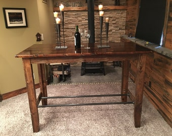 """Pub Table, Dining Table, Bar Table, Game Table, Sofa Table, 30"""" W x 60"""" L x 42"""" H"""