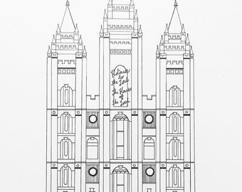 Salt Lake LDS Temple print