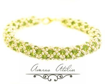 Netted crystal bracelet - Beaded Bracelet