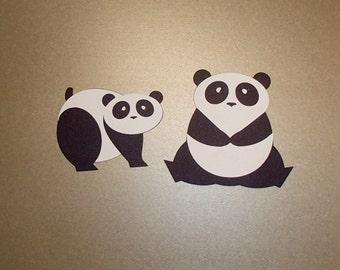 A Pair of Panda Die Cuts