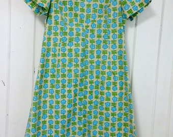 Fab late 50s handmade floral dress