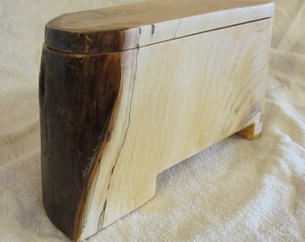 Natural Wood, one of a kind recipe box