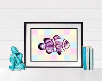 Geometric Print, Geometric Poster, Geometric Design, Marine Art Decor, Marine Baby, Marine Life, Marine Gifts, Marine Biology Biologist