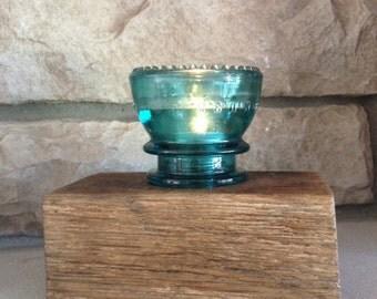 Reclaimed Barn Wood Insulator Tea Light Holder