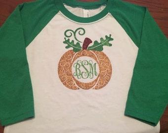 Monogrammed Pumpkin Shirt