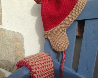 Bonnet and child snood 2-3 years