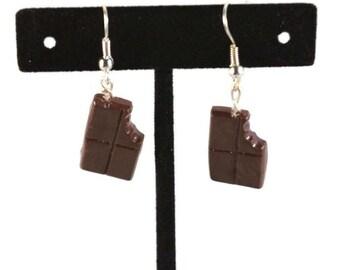 Chocolate Bar Earrings, Candy Jewelry, Candy Bar Earrings, Sweets, Food Jewelry, Food Earrings