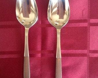 Vintage Ekco Eterna Serving Spoons