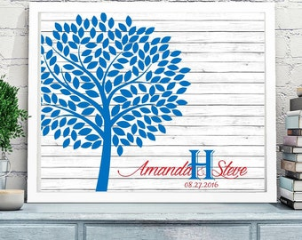 Wedding Guest Book Alternative, Tree Guestook, Guest tree, Custom Colors, Personalized guestbook, digital file