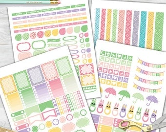 Easter planner stickers. Printable planner stickers. Erin Condren stickers. Stickers for planner. Sticker pack spring. Easter printables.