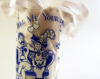 Vintage Song  Musical Glass  You Tell Me Your Dream  1950s Peanut Butter Jar