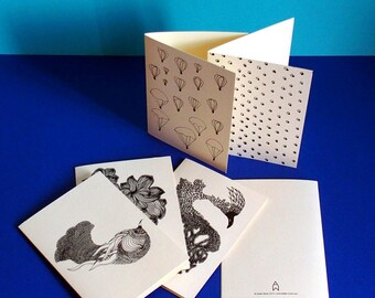 6 cards 6 envelopes KIT