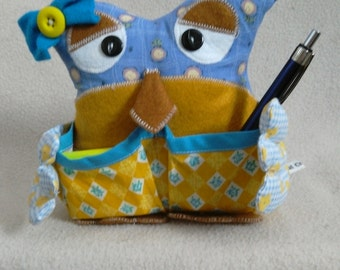 Desk Tidy, Sewing Accessories, Organiser, Owl.