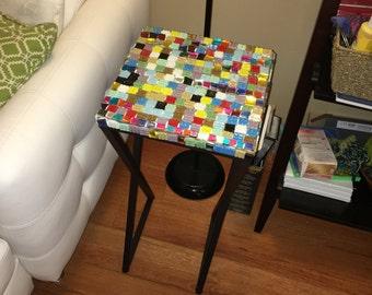 Handmade mosaic side table