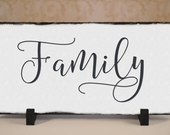 Outdoor Family Sign! Slate Family Sign, Outdoor Sign, Weatherproof Sign, Family Sign, Family Decor Wedding Gift, House Warming Gift.