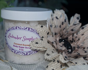 Exfoliating Sugar Scrub With Coconut Oil by Lavender Simplicity, Handmade Sugar Scrub, Coconut Oil Sugar Scrub, Sugar Scrub