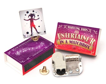 Make Your Own Music Box In A Matchbox - The Entertainer - Musical Gift - Gift for Children