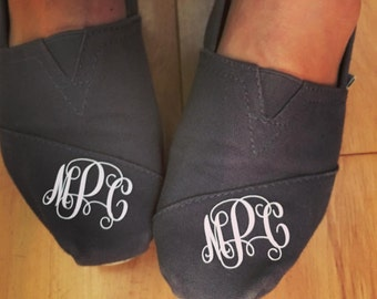 Monogram Decal For Toms