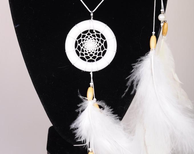 White hair clips pendants handmade exclusive Dreamcatcher hair clips pendants white DreamCatcher Dreamcatchers gift Christmas hair clips