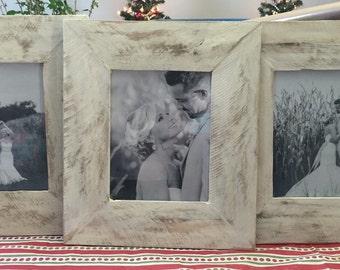 Antiqued Pallet Wood Picture Frame