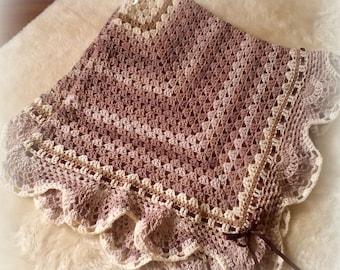 Cappucino baby blanket