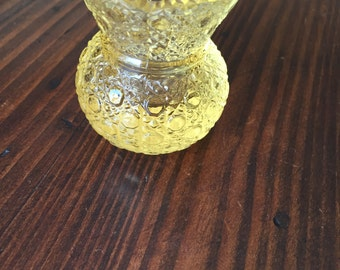 Vintage yellow toothpick holder