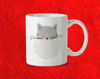 christmas mug - cat mug, stocking stuffer, christmas gift for her, cat lady gift, bff christmas gift, funny christmas gift, gift under 20