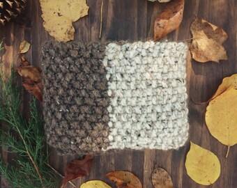 Sale! Knit Infinity Scarf - Handmade Neckwarmer - THE BORAGE