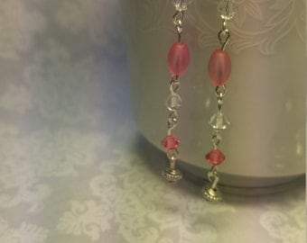 Pink Dangle Earrings