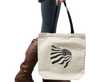 Funny Patriotic Waving American USA Flag Handbag Shoulder Bag Purse SP-00002