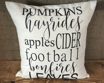 Fall Favorites Pillow Cover