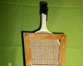 Tennis racket coaster set