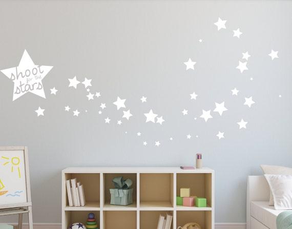 wall decal star wall decal nursery wall decal shooting star wall