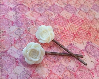 Blooming Rose bobby pins