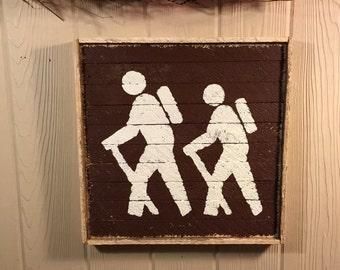 Rustic Hiking, Trail Marker, wall decor