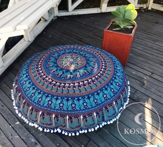 Giant Bohemian Floor Pillows : Large bohemian floor cushion COVER ONLY