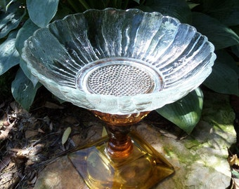 Bird Bath, Birdbath, Bird Feeder, Garden Decor, Garden Art, Yard Art, Re-purposed, Up-Cycled
