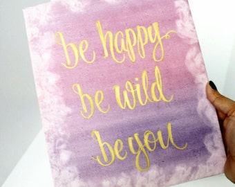 Hand Painted Watercolour Canvas with Quote, Custom Watercolour Canvas, Personalised Canvas, Watercolour Wall Art, Canvas Art