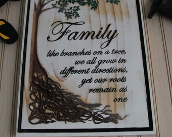 Family Tree Sign (Carved)